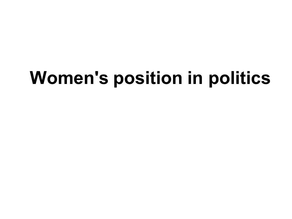 Women s position in politics