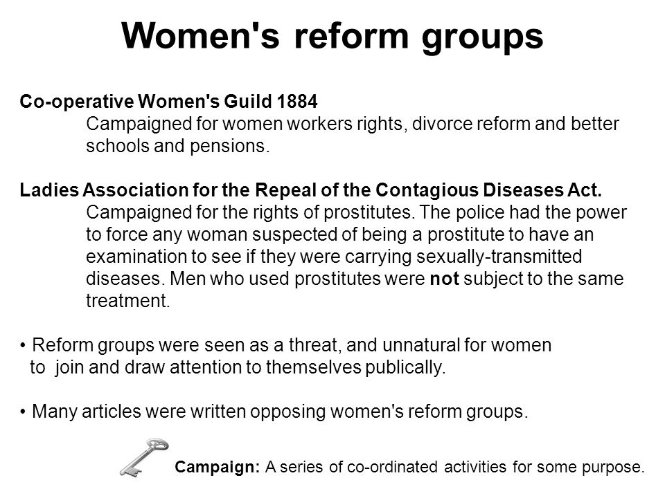 Women s reform groups Co-operative Women s Guild 1884