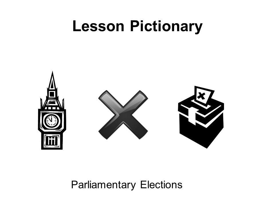 Lesson Pictionary Parliamentary Elections