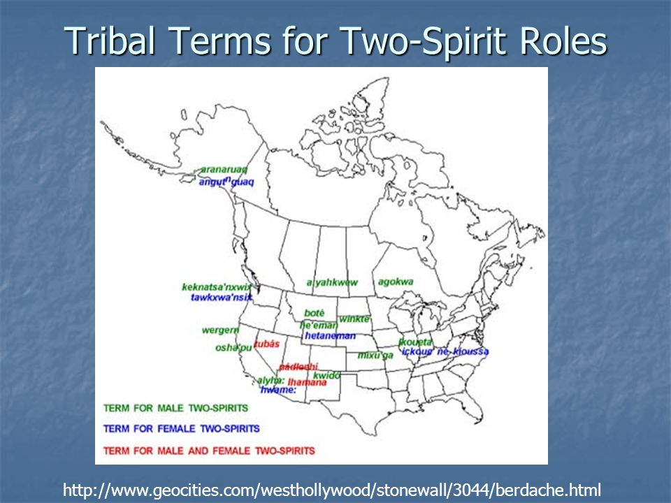 Tribal Terms for Two-Spirit Roles