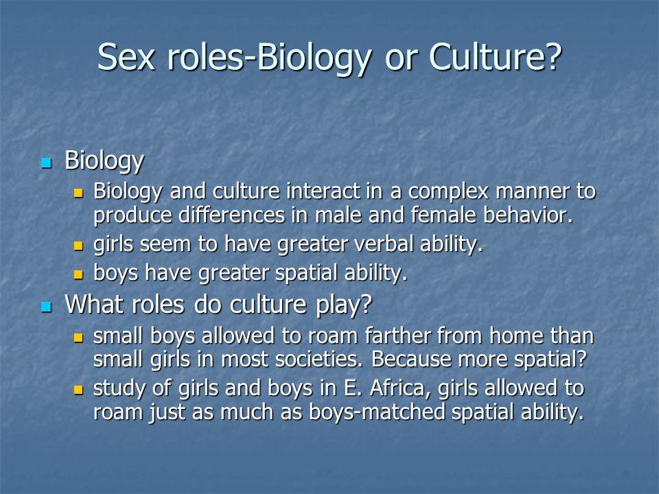 Sex roles-Biology or Culture