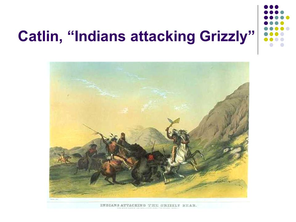 Catlin, Indians attacking Grizzly