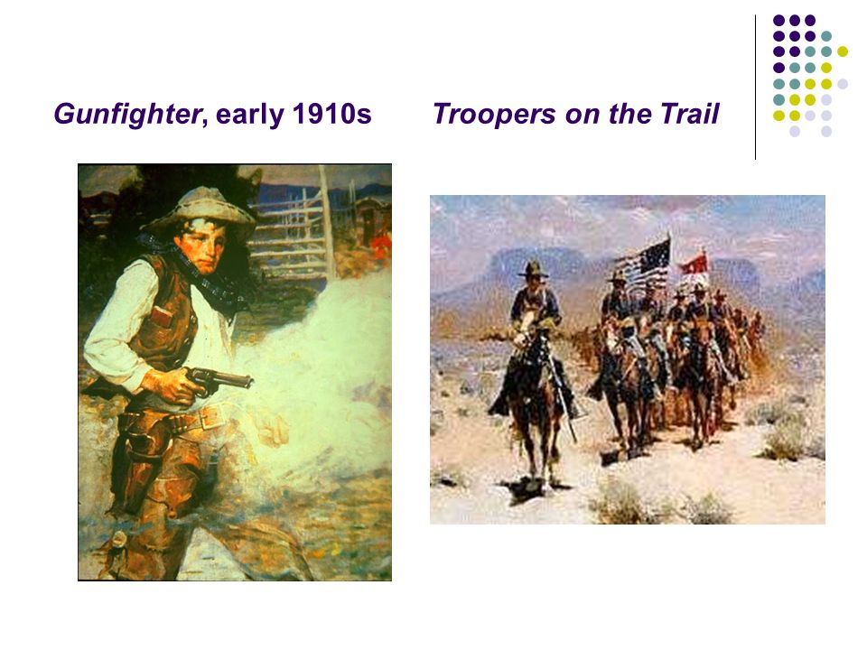 Gunfighter, early 1910s Troopers on the Trail
