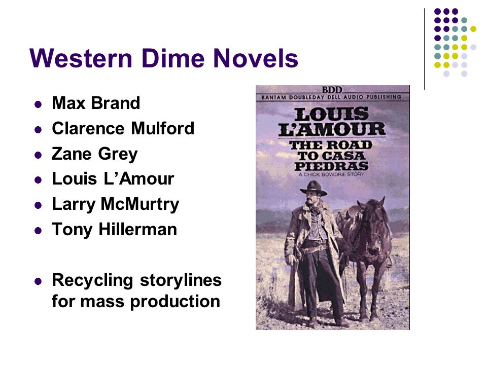 Western Dime Novels Max Brand Clarence Mulford Zane Grey Louis L'Amour