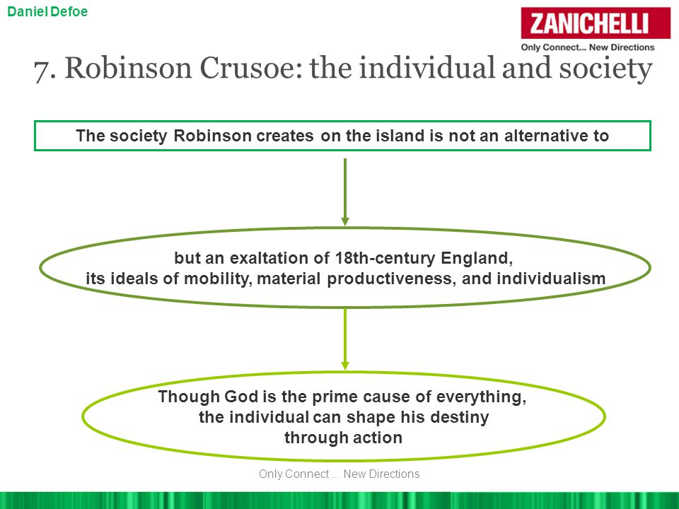 7. Robinson Crusoe: the individual and society