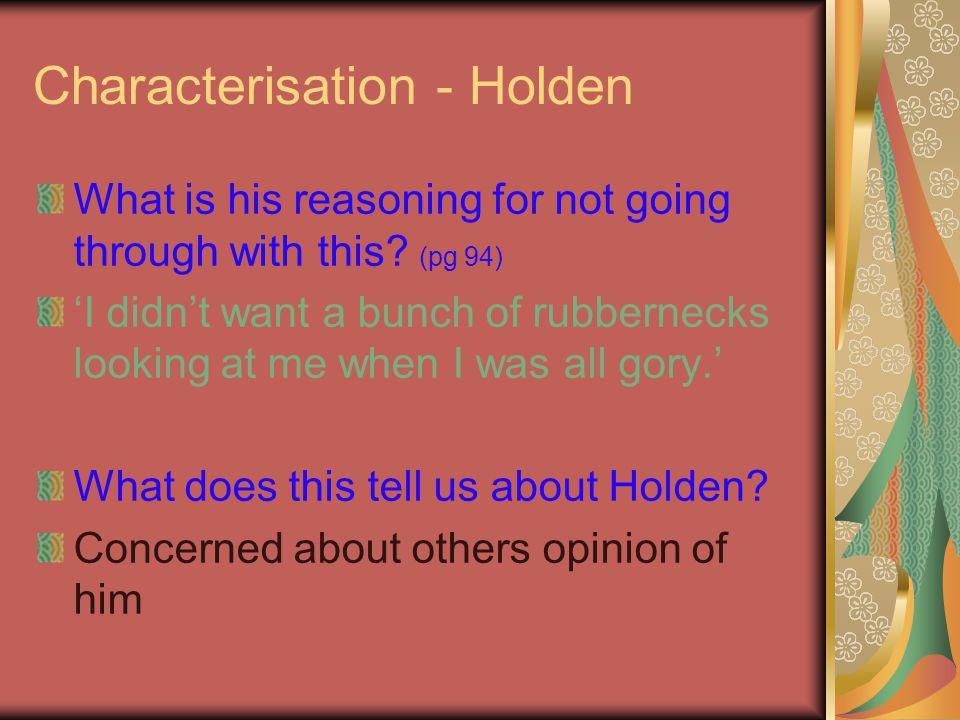 Characterisation - Holden