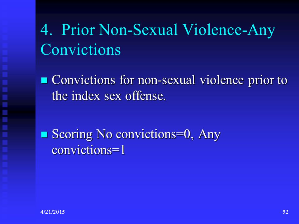 4. Prior Non-Sexual Violence-Any Convictions