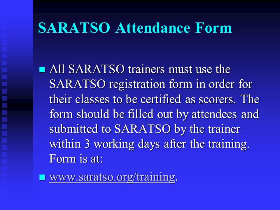 SARATSO Attendance Form