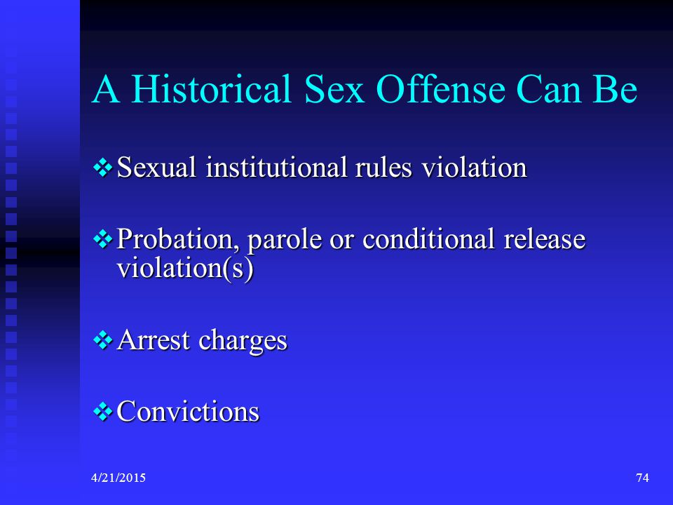 A Historical Sex Offense Can Be