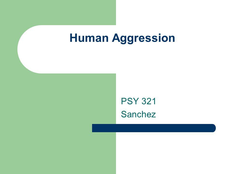Human Aggression PSY 321 Sanchez