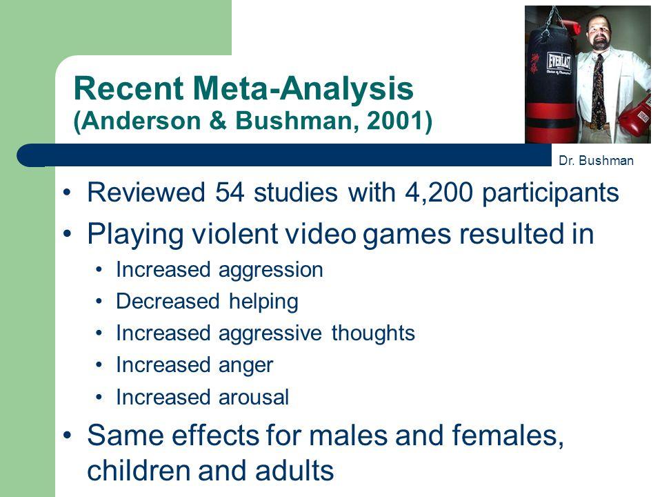 Recent Meta-Analysis (Anderson & Bushman, 2001)