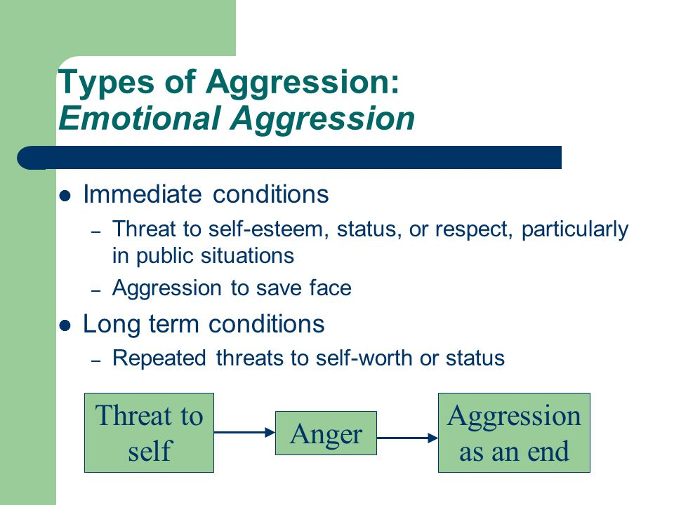 Types of Aggression: Emotional Aggression