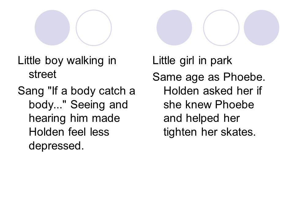 Little boy walking in street