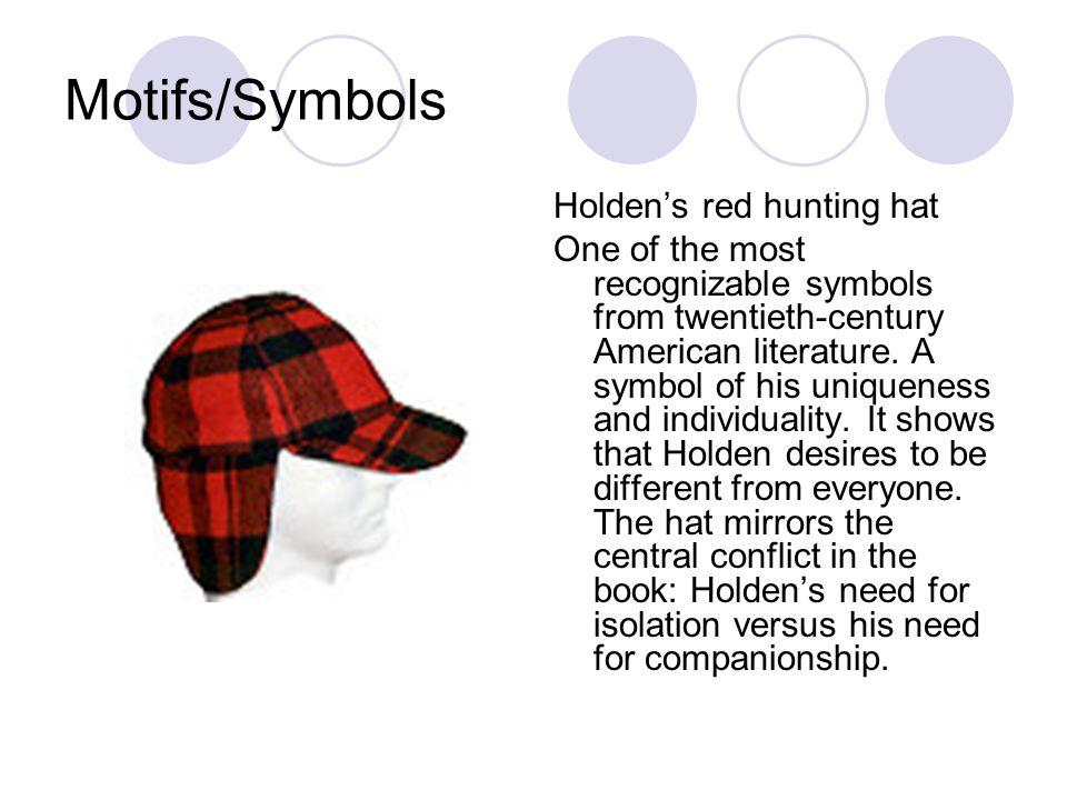 Motifs/Symbols Holden's red hunting hat