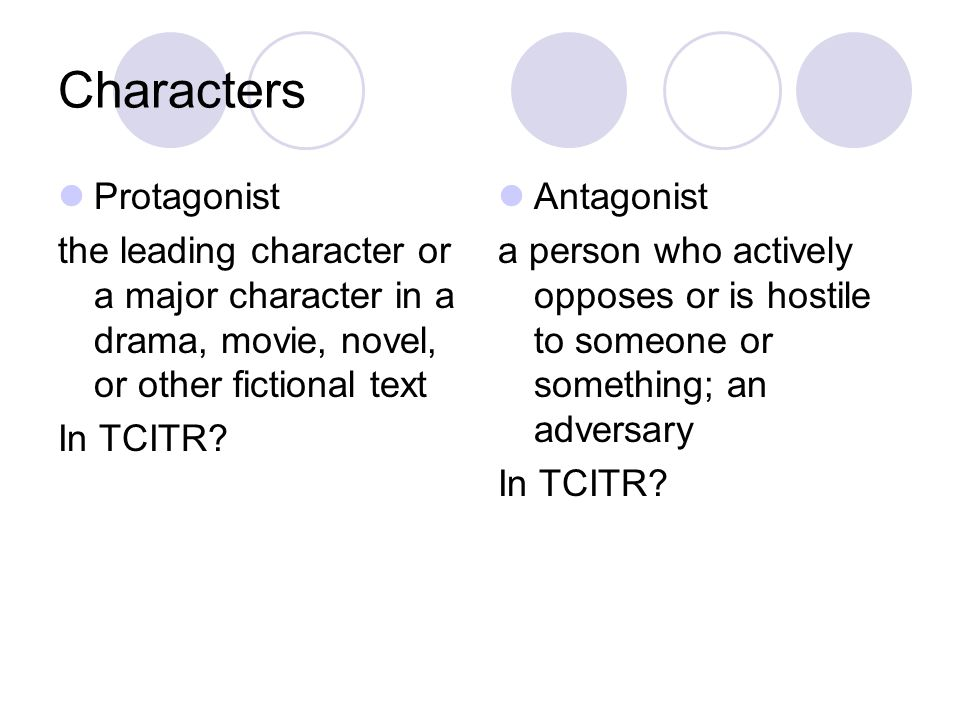 Characters Protagonist