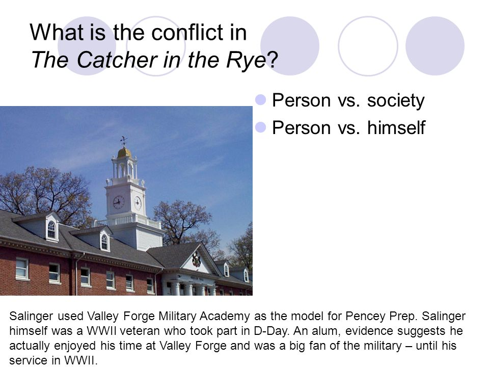 What is the conflict in The Catcher in the Rye