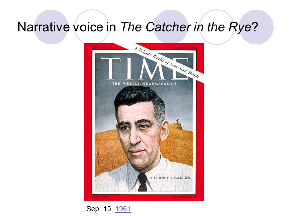 Narrative voice in The Catcher in the Rye