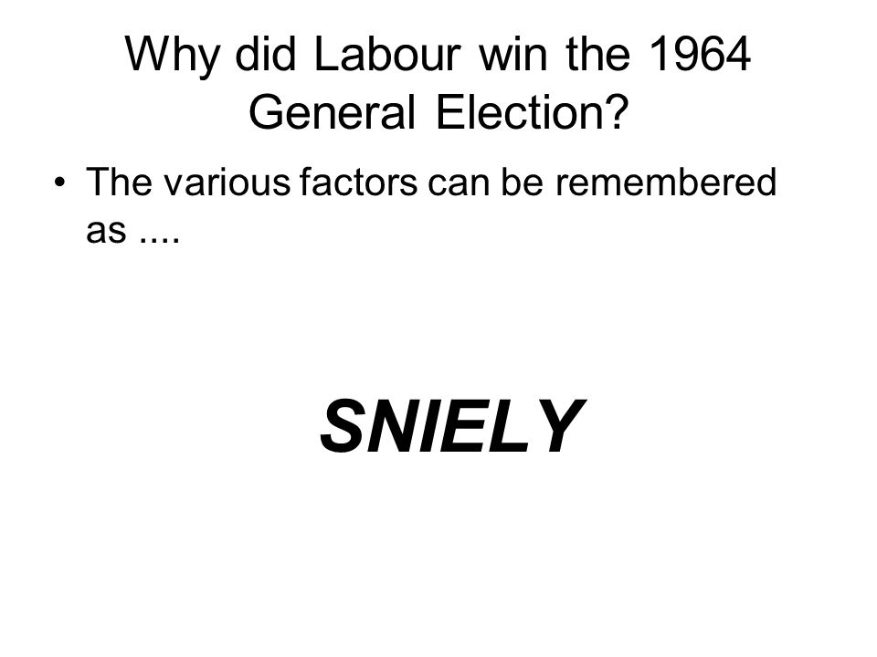 Why did Labour win the 1964 General Election