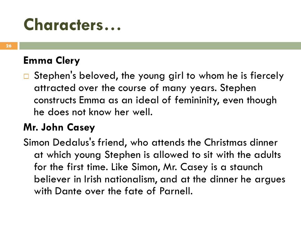 Characters… Emma Clery
