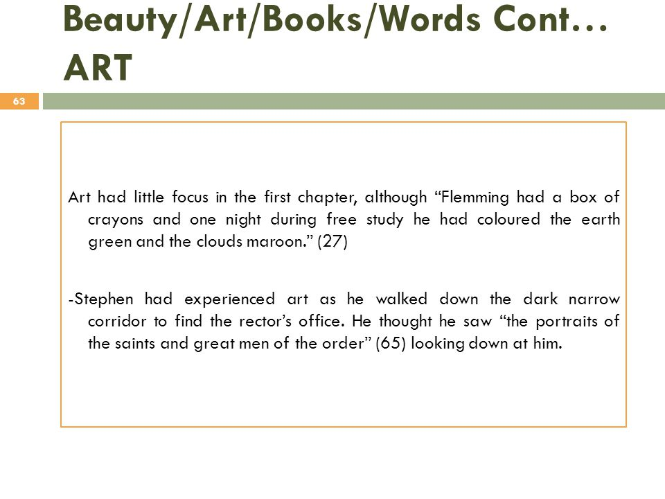 Beauty/Art/Books/Words Cont… ART