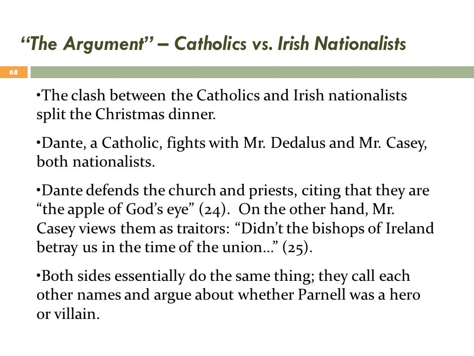 The Argument – Catholics vs. Irish Nationalists