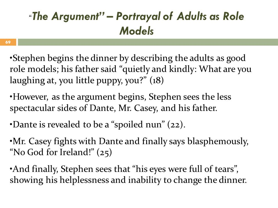 The Argument – Portrayal of Adults as Role Models