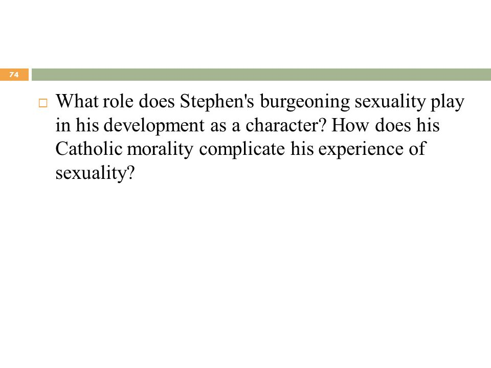 What role does Stephen s burgeoning sexuality play in his development as a character.