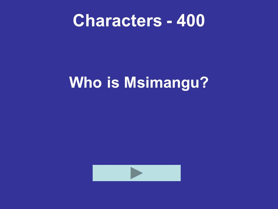 Characters - 400 Who is Msimangu
