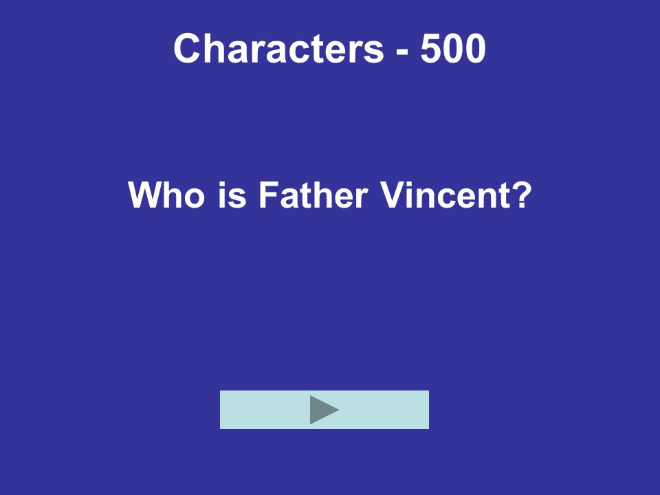 Characters - 500 Who is Father Vincent