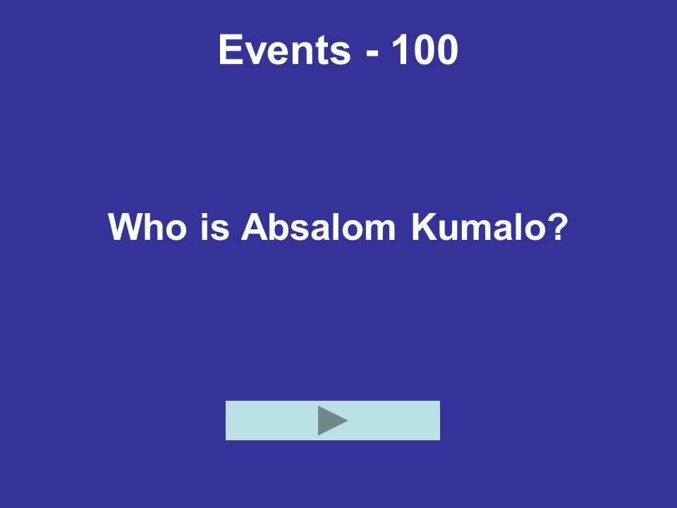 Events - 100 Who is Absalom Kumalo