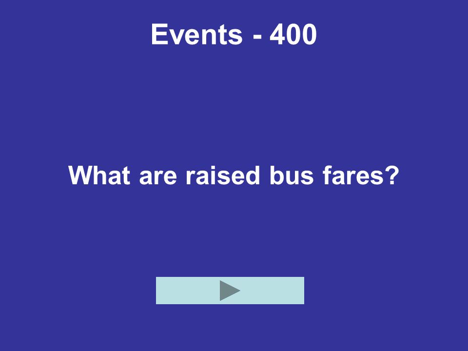 What are raised bus fares