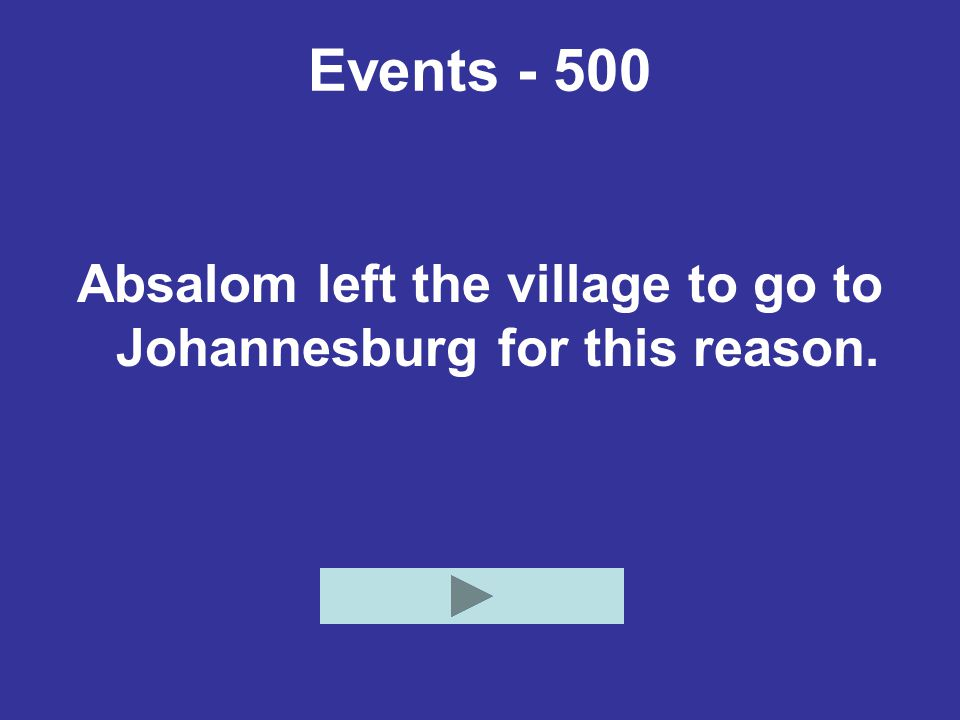 Absalom left the village to go to Johannesburg for this reason.