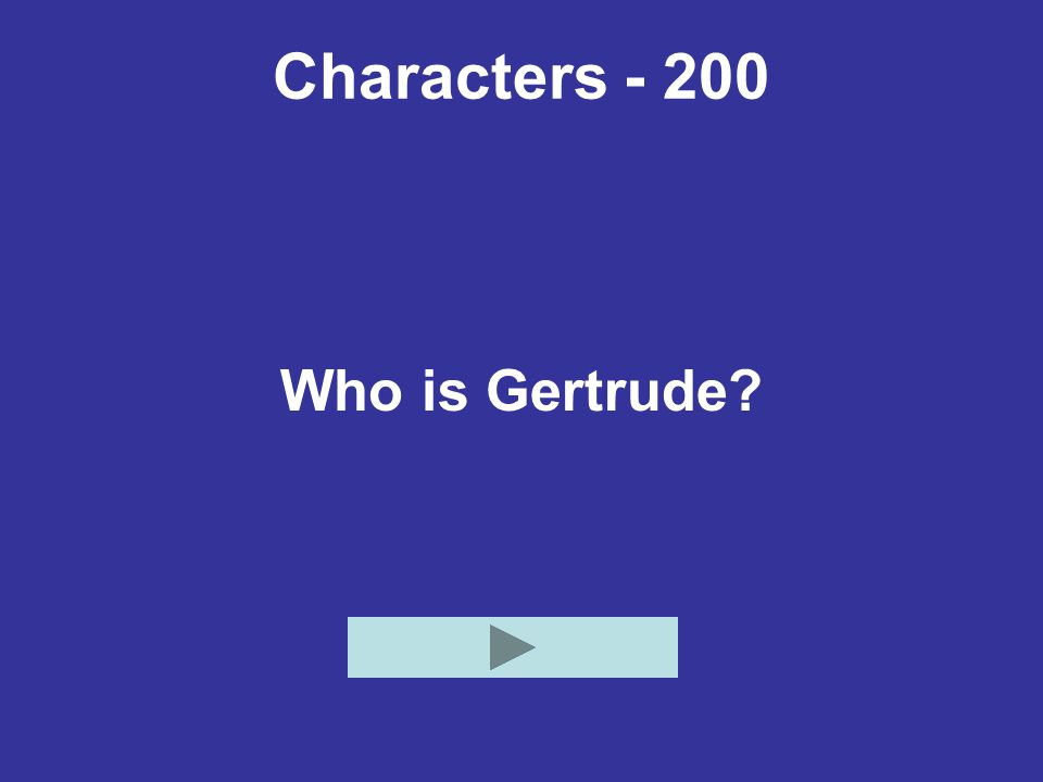 Characters - 200 Who is Gertrude