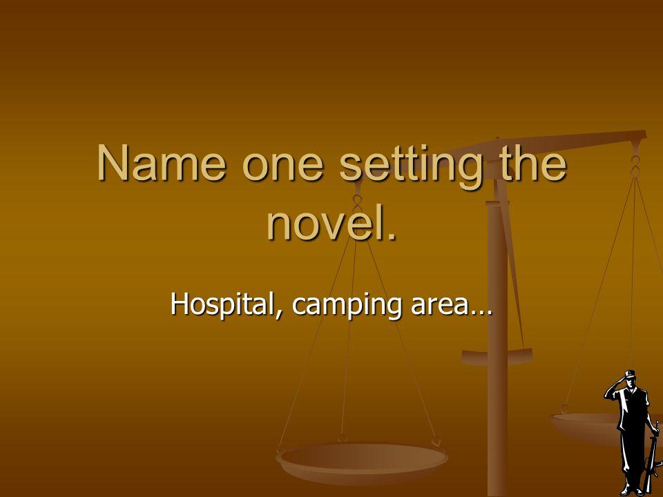 Name one setting the novel.