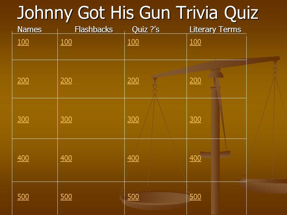 Johnny Got His Gun Trivia Quiz