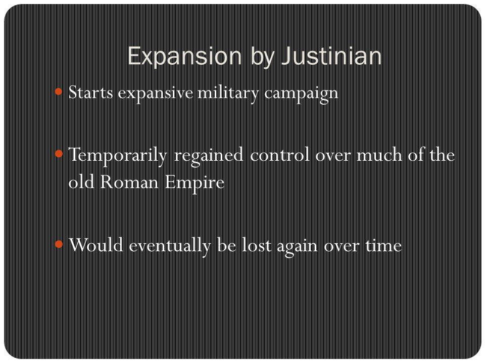 Expansion by Justinian