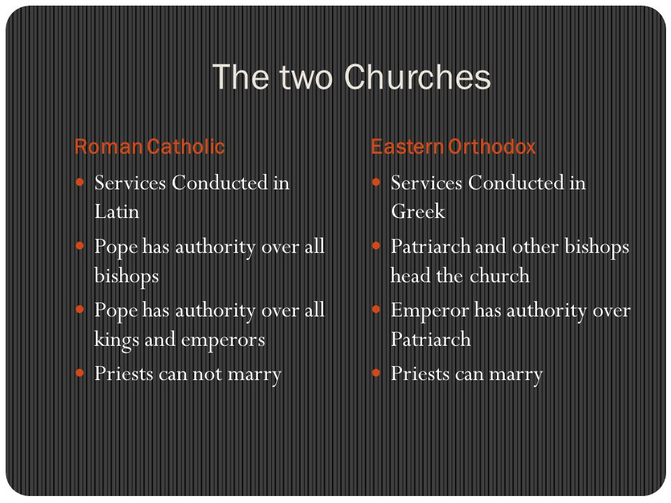 The two Churches Services Conducted in Latin