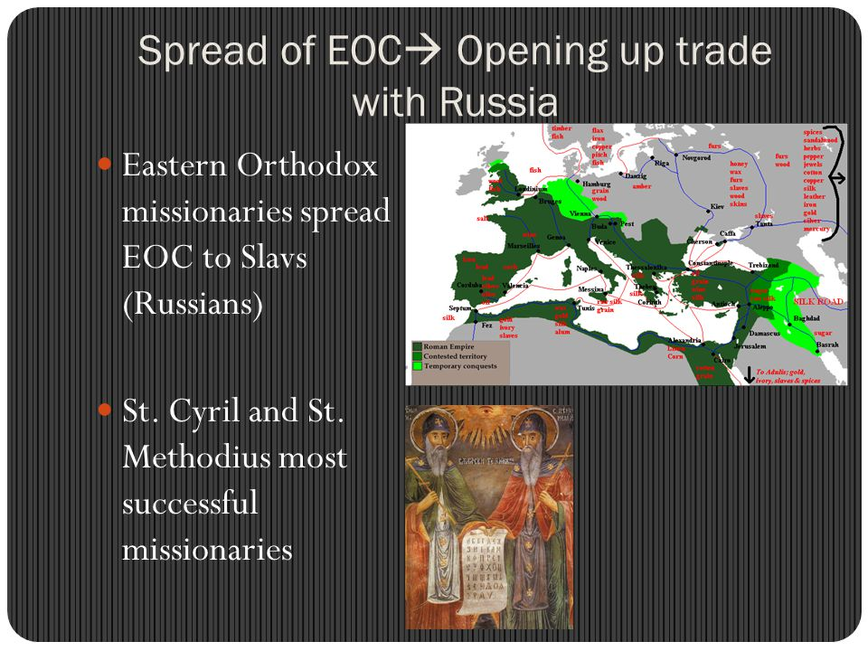 Spread of EOC Opening up trade with Russia