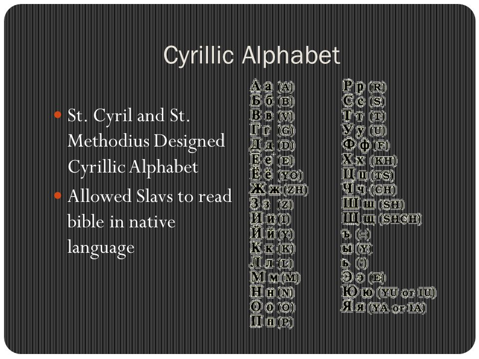 Cyrillic Alphabet St. Cyril and St. Methodius Designed Cyrillic Alphabet.