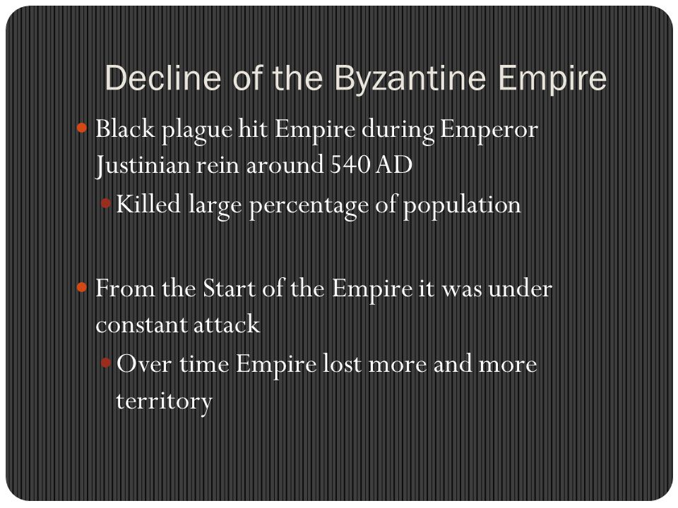 Decline of the Byzantine Empire