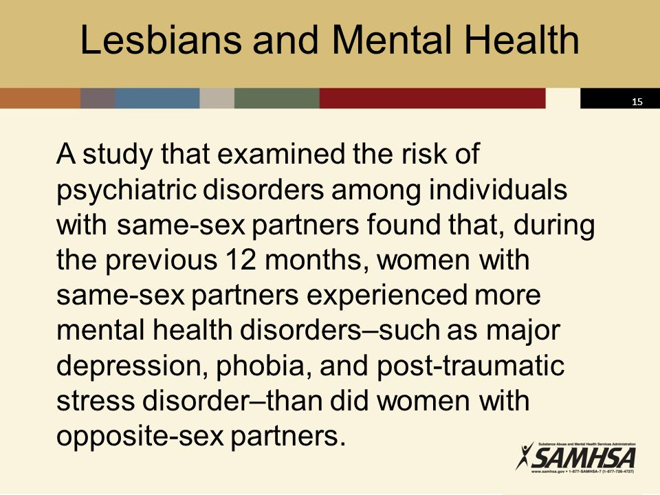 Lesbians and Mental Health