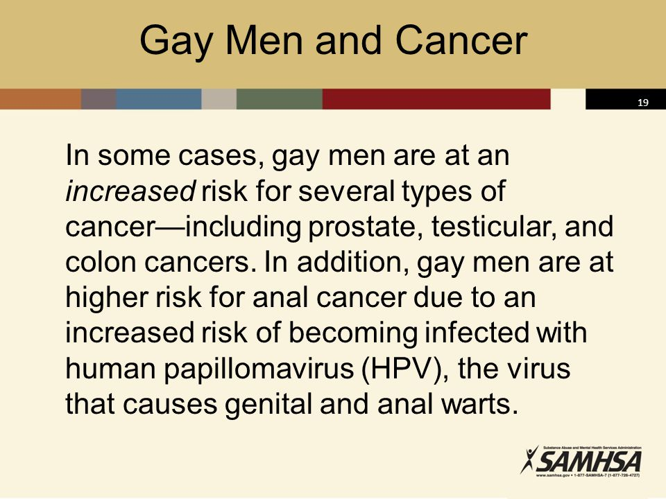 Gay Men and Cancer