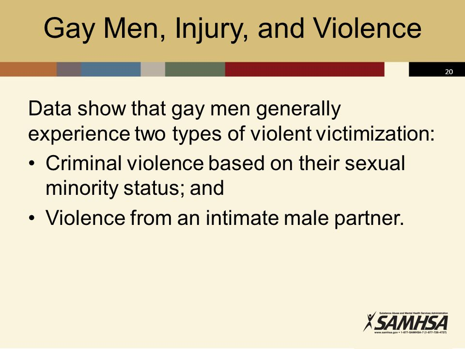 Gay Men, Injury, and Violence