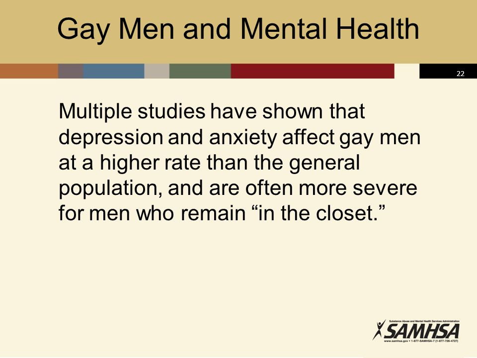 Gay Men and Mental Health