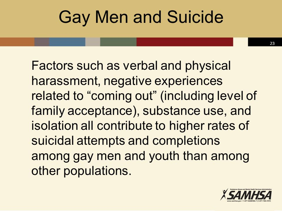 Gay Men and Suicide