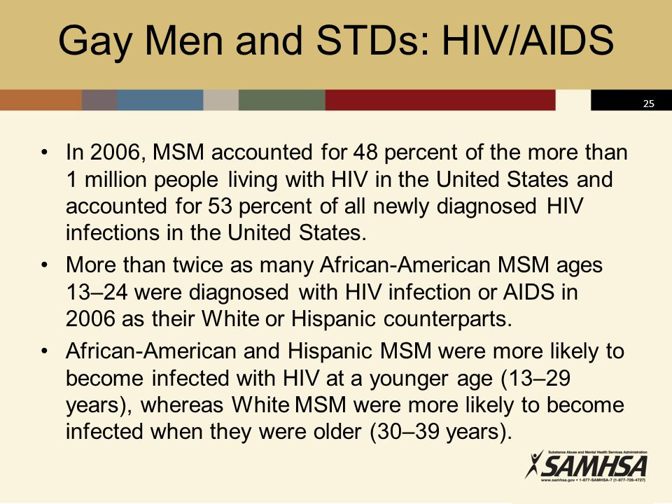 Gay Men and STDs: HIV/AIDS