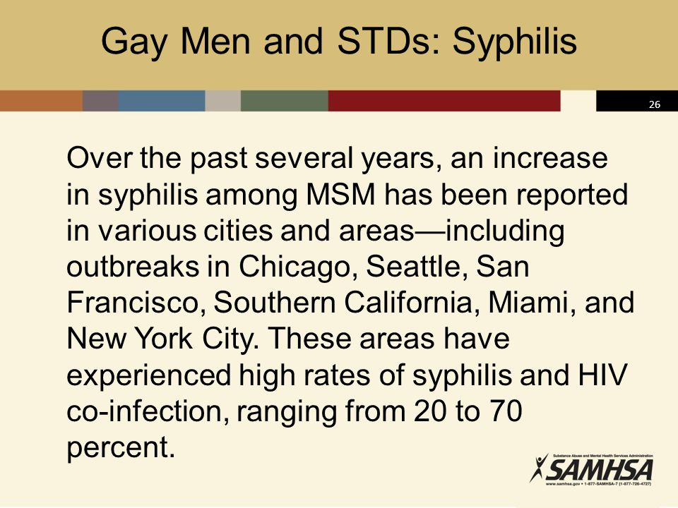 Gay Men and STDs: Syphilis