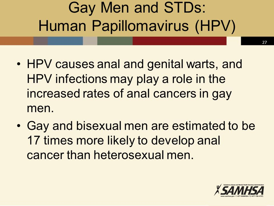 Gay men std prevention