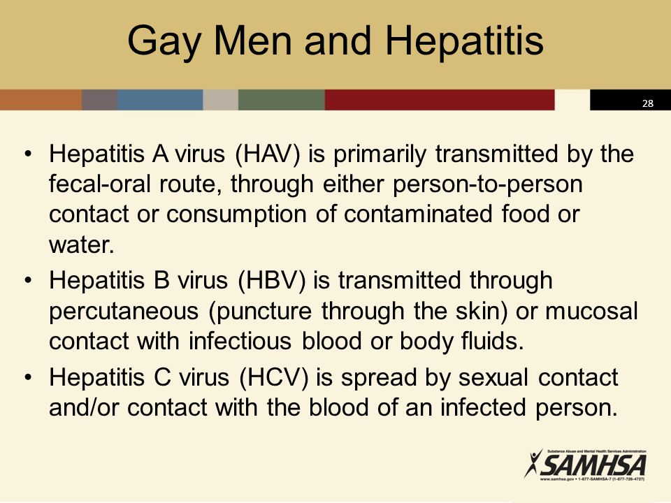 Gay Men and Hepatitis