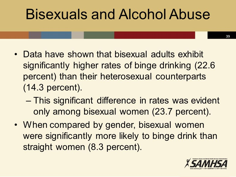 Bisexuals and Alcohol Abuse
